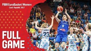 Slovak Republic v Italy - Full Game - FIBA EuroBasket Women 2017