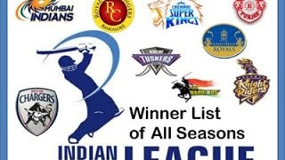 IPL WINNERS LIST OF ALL SEASONS | 2008 TO 2016 | Information Factory | 2017