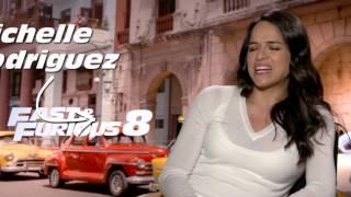 Entrevista a Michelle Rodriguez - Rápidos y Furiosos 8 (completa)