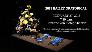 2018 Bailey Oratorical | February 27, 2018 | Live Stream