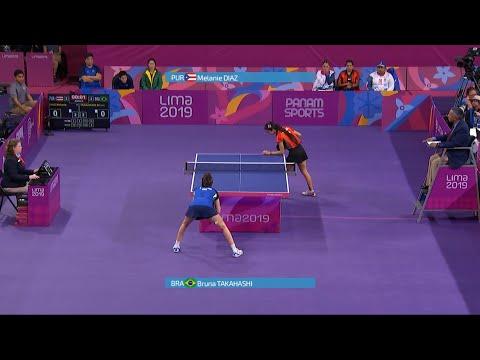 Melanie Diaz vs Bruna Takahashi Final de Equipos Femenino Tenis de Mesa Lima 2019