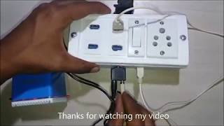 How to make USB charging At Electric Extension Board & Music System