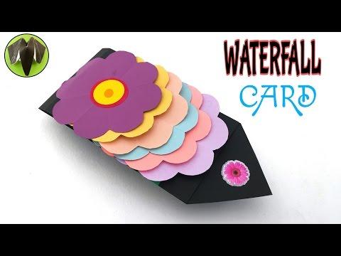 Xxx Mp4 FLOWER Waterfall Card Tutorial From Paper Folds 688 3gp Sex
