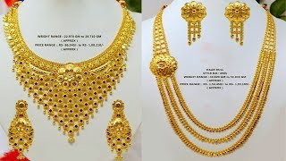 Latest Light weight gold necklace designs with weight, price and whatsapp number | Today Fashion|