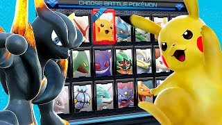 Pokken Tournament DX ALL CHARACTERS UNLOCKED, All Pokemon Animations, Stages, Costumes + Mewtwo