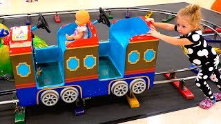 Kids Shopping at the Supermarket and Play Area Indoor Playground for children Baby Nursery Songs