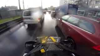 Can-am Renegade ride in city
