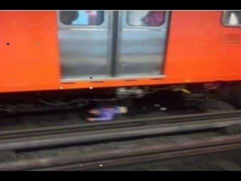 Mujer se avienta de el metro y aparece viva