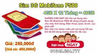 Sim 3G Mobifone    sim 3g max Băng thông    Sim 3G không giới hạn
