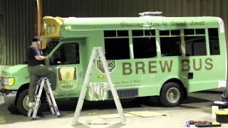 Mabel Vinyl Wrap Timelapse - The Maine Brew Bus