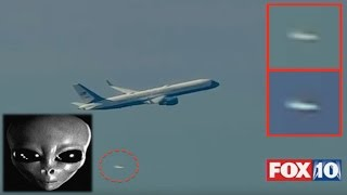 Aliens Give Escort To US President Donald Trumps Plane In Washington DC, Video