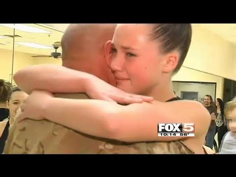 Army Sergeant Surprises Daughter In Dance