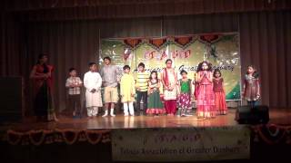 TELUGU SKIT KIDS ACTIVITIES IN US @ TAGD UGADI 2013
