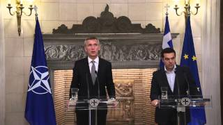 NATO Secretary General with Prime Minister of Greece, 22 APR 2016
