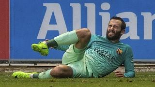 La lesión de Aleix Vidal en el Alavés vs FC Barcelona [11/02/2017]