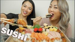 SUSHI Sister's Mukbang | *Lets Eat | SASVlogs