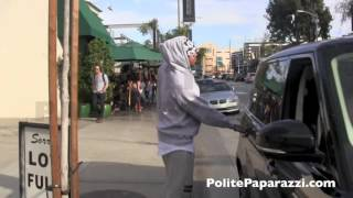 Chris Brown & Karrueche Tran Having Lunch Together in Hollywood - CLASSIC - FULL VIDEO 1/7/15