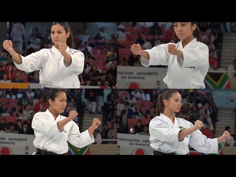 空手女神たちから目が離せない 映像 Four Karate Venus, Gojyu-shiho