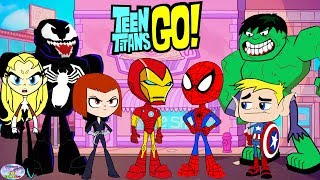 Teen Titans Go! Color Swap Transforms Raven Iron Man Spiderman Surprise Egg and Toy Collector SETC