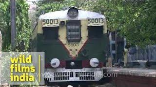 Local train passing through Eden Garden station - Kolkata