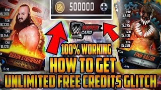 *NEW*HOW TO GET UNLIMITED FREE CREDITS IN WWE SUPERCARD GLITCH.. (unlimited credits)*2018*