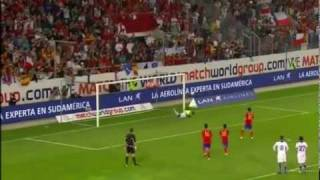 Spain Vs Chile 3-2 All Goals Highlights 02/08/2011