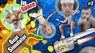 GOAT ON FIRE! 🔥 FGTEEV Shawn, Chase and Duddy play GOAT SIMULATOR in SPACE: HA HA HA HA HA Part 2