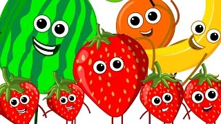 The Fruits Song | Learn Fruits | Nursery Rhymes | Kids Song