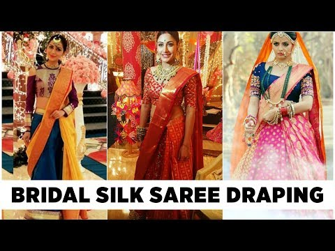 How to Wear Saree in Modern Style for Bride   Saree Draping