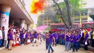 Flash-Mob of 7th batch Management Studies, Jagannath University- Rag Day 2015