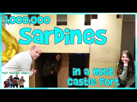 Xxx Mp4 SARDINES In A HUGE Castle Box Fort With A Maze That YouTub3 Family 3gp Sex