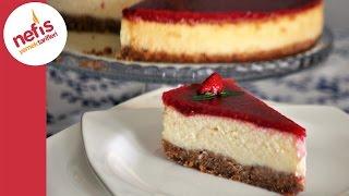 Frambuazlı Cheesecake Tarifi | Meyve Soslu Cheesecake | Nefis Yemek Tarifleri