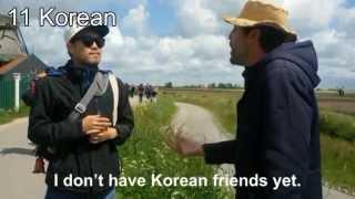 Dutch polyglot speaks 18 languages with tourists
