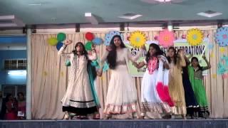 9th IIT & regular girls dance on 2014 15 farewell program.