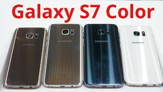 Samsung Galaxy S7 and S7 Edge Color Comparison [4k]