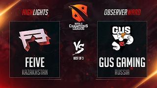 Feive vs GUS Gaming | D2CL Season 10 | 16.02.2017 | RU Highlights