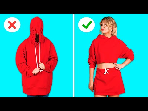 CLOTHING HACKS THAT WON T COST YOU A SINGLE PENNY DIY Clothes Projects by 123 GO GOLD