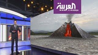 كيف يحدث الانفجار البركاني؟