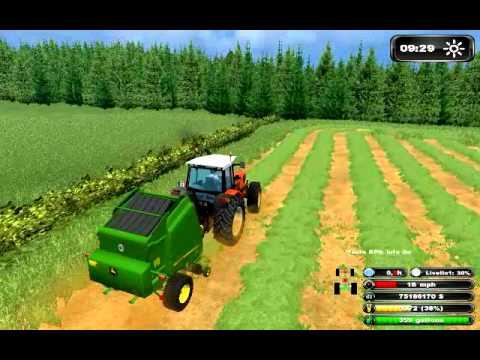 farming simulator 2011 round bailing on wellbrook