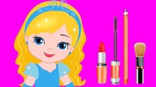 Makeup princess Cinderella animation fun