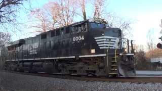 HD: NS 8004 leads NS Train G66 in Whitesburg, GA