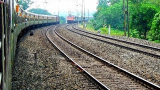 2 train crossing with Duronto Express train & 2 train are face to face in a Single line