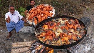 Whole Fried Chicken | Full Fried Chicken Prepared By  Grandpa