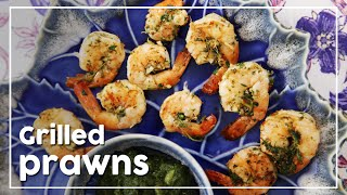 Grilled Prawn With Lemon and Coriander | Grilled Shrimp Recipe | My Recipe Book By Tarika Singh