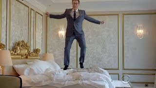 Colbert Investigates The Buzzfeed Dossier Hotel and Jumps on the Bed Chanting