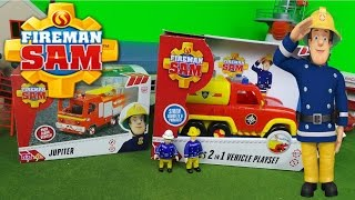 2018 Feuerwehrmann Fireman Sam Double Unboxing Jupiter Fire Engine & Venus Fire Trucks 🚒