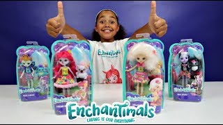 NEW Enchantimals Dolls Toy Haul With Animal Friends - Kids Toy Review | Toys AndMe