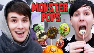 Halloween Baking - MONSTER POPS!