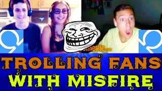 Trolling Fans On Omegle With MisFire!