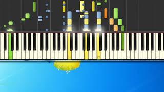 [Piano Tutorial Synthesia]Bene bene male male - Pel— Piero